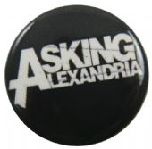 Asking Alexandra - 'Name Black' Button Badge